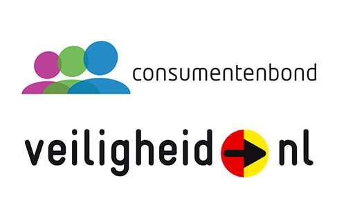 logo veiligheidNL en Consumentenbond
