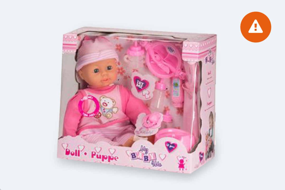 Waarschuwing my baby me doll