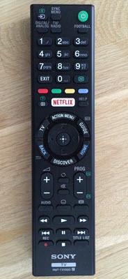 Sony KDL-65W855C - afstandsbediening