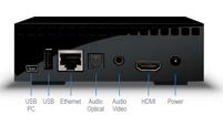 Lacie Lacinema Mini HD aansluitingen