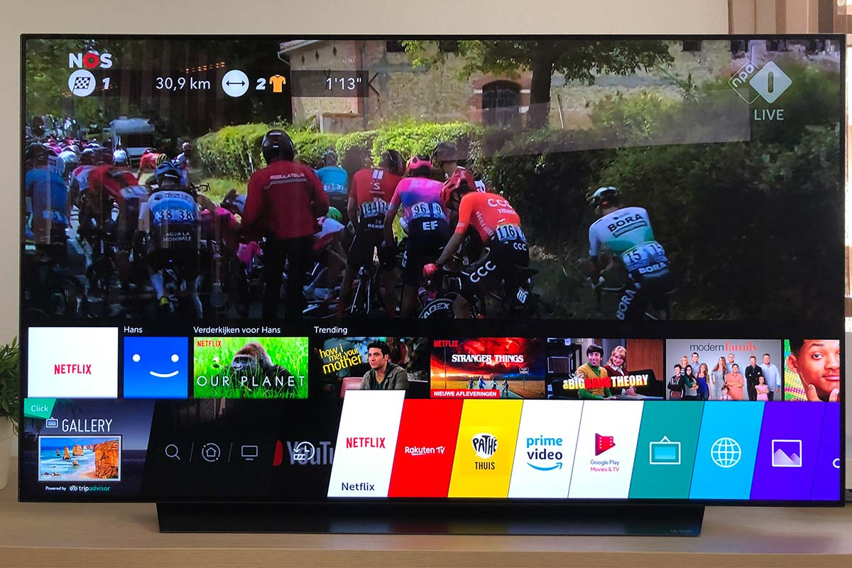Smart menu LG OLED65C9