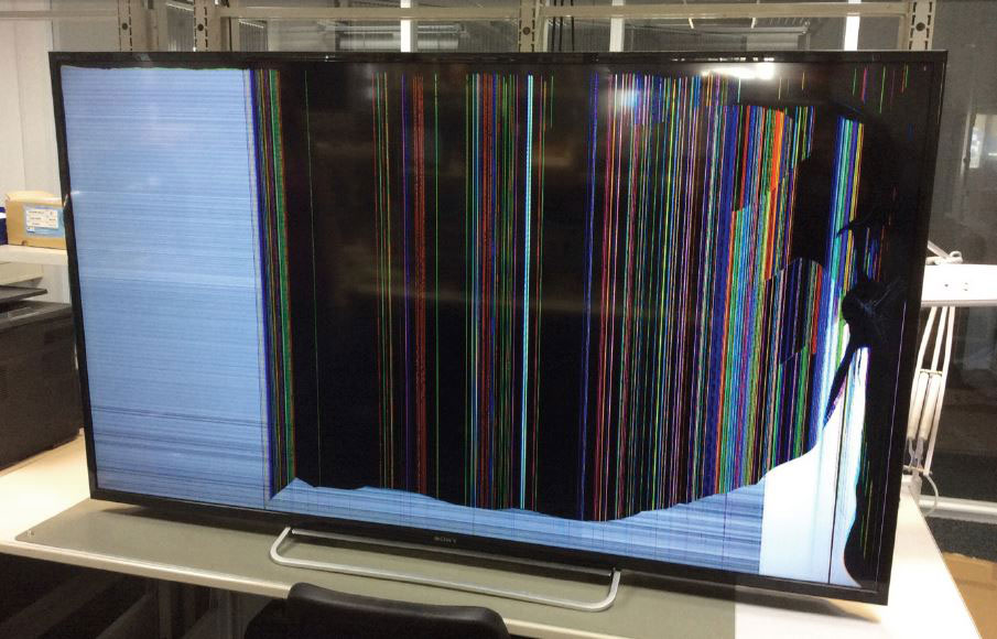 Tv met defect scherm