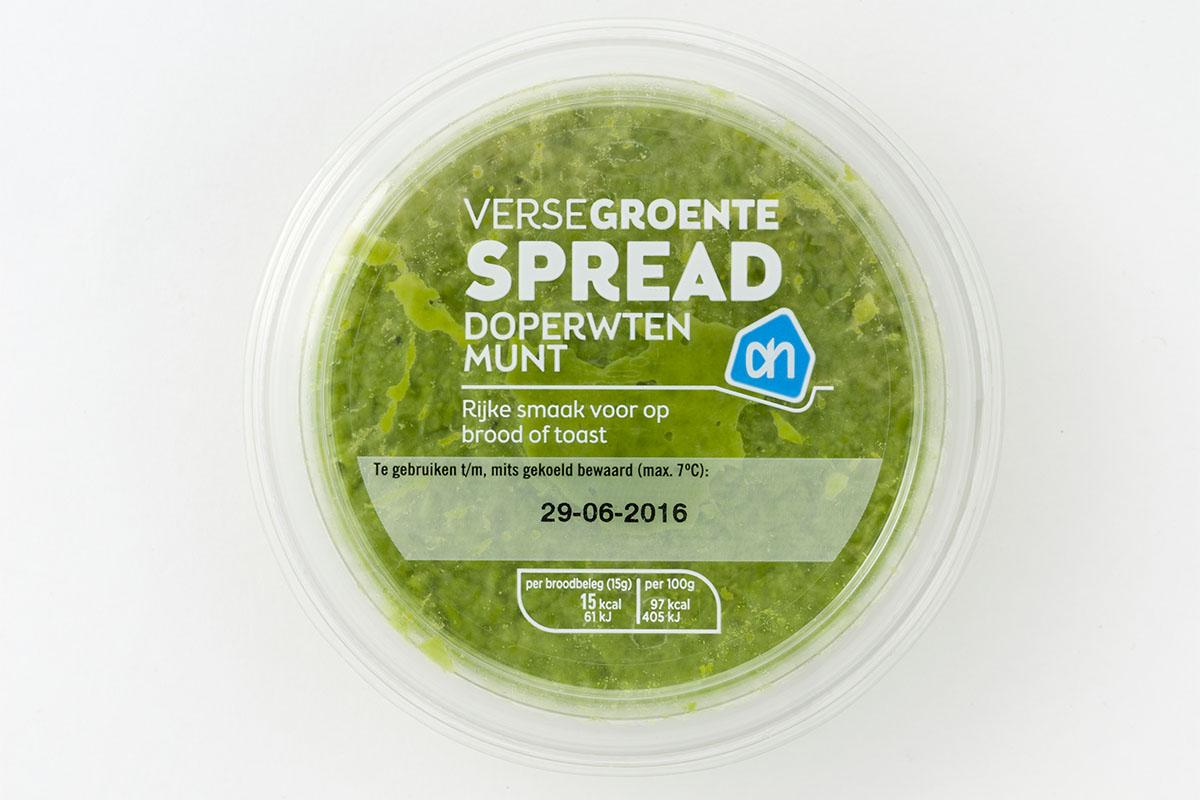 voeding AH doperwt munt spread