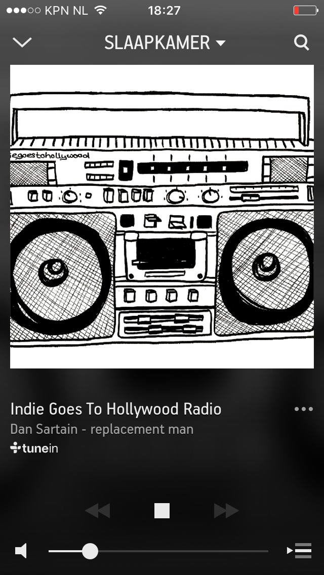 Sonos app muziek afspelen